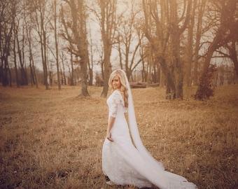 Silk Wedding Veil - 100% Silk Tulle