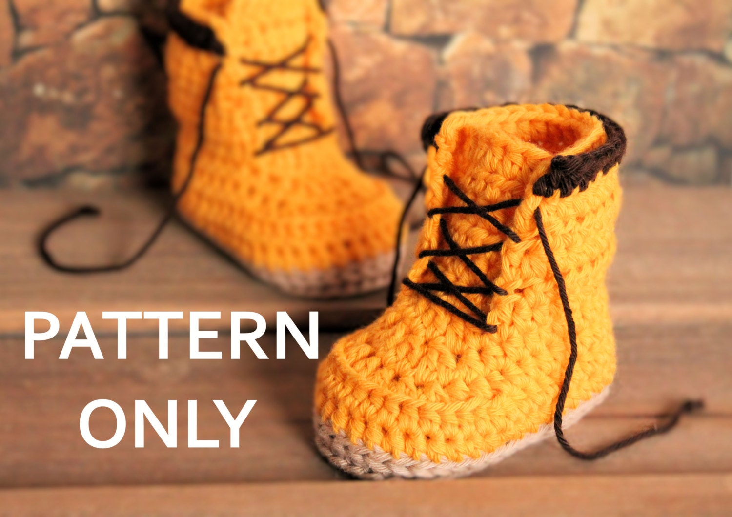Crochet PATTERN boots for baby boys fall booties