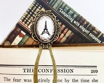 Paris bookmark, chic bookmark, antiqued bookmark, paris page marker, Eiffel Tower gift, bibliophile gift, bookworm gift, keepsake bookmark,
