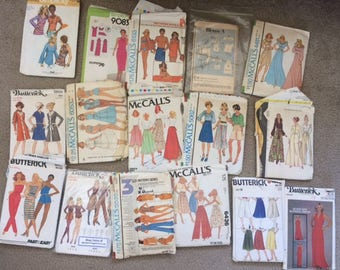 Rare Vintage 1970's Sewing Pattern Lot