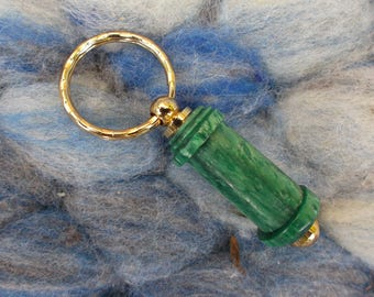Last 1 limited Colour - WPI gauge keyring (wraps per inch) Emerald Green acrylic