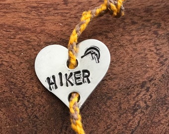 "Braided hemp, ""Hiker"", Bracelet"