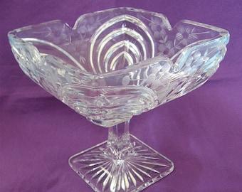 ON SALE was 20.99 Vintage Square Glass Pedestal Bowl