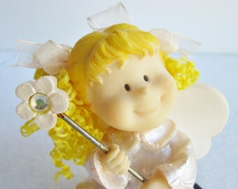 Vintage Angel Fairy With Wand Figurine