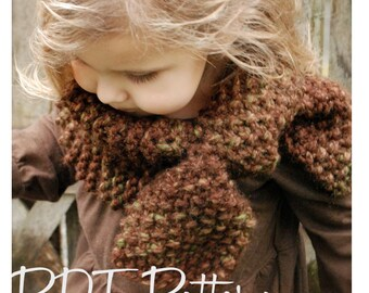 Knitting PATTERN-The Parklynn Cowl (Child, Adult sizes)