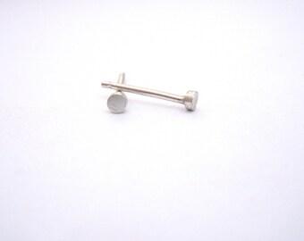 2mm Sterling Silver Stud Earrings cartilage stud gold stud simple silver studs simple studs silver studs Confetti 0139