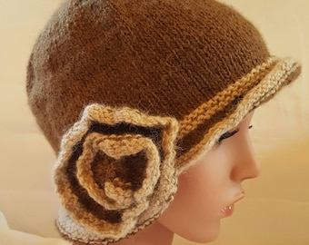 Alpaca Flapper Hat
