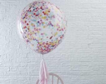 The 3 confetti balloons