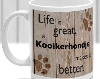 Kooikerhondje dog mug, Kooikerhondje dog gift, dog breed mug, ideal present for dog lover