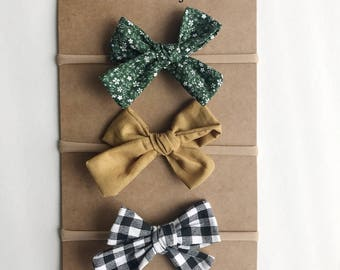 Girls set of 3 hair bows