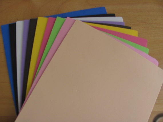 100 foamy sheets goma eva sheets for fofuchas doll for Red craft foam sheets