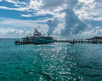 Mexican Boat Docks, Ocean Photography, Beach Photography, Landscape Photography, Travel Photography, Boat Photography, Mexico Landscape