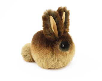 Stuffed Easter Bunny Stuffed Animal Cute Plush Toy Bunny Kawaii Plushie Cinnamon Brown Bunny Rabbit Fuzzy Toy Small Size 4x5 Inches