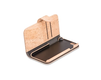 Cork iPhone 7 Plus Case in Natural Cork Color - iPhone 7 Plus Cover in Cork - FREE SHIPPING WORLDWIDE - Vegan Eco-Friendly Gift Idea