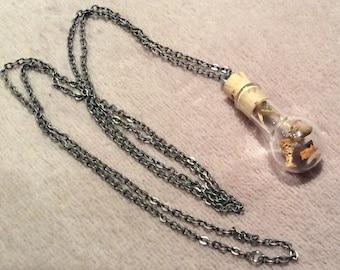 Prosperity Abundance Necklace Wish Bottle