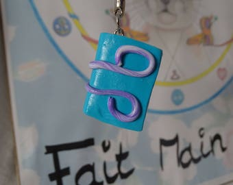 turquoise blue book keychains