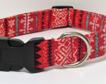 Winters Sweater Handmade Dog Collar