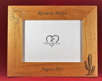 Cactus and Sun, Desert Personalized Picture Frame