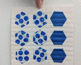 Blueberry Hexies - Wall Hanging
