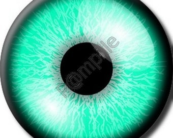 Cabochon resin 25 mm - turquoise eye (911) stick