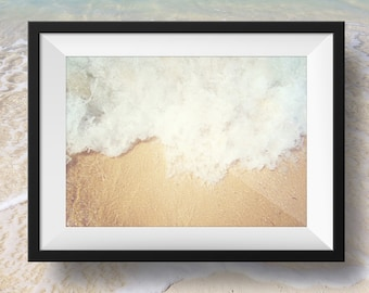 Ocean waves water beach decor, nature image, beach house home decor, Instant Download, Digital Download