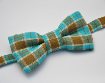 Plaid Bow Tie, Toddler Bow Tie, Baby Bow Tie, Boys Bow Tie, Suit Tie, Wedding Bow Tie, Mens Bow Tie, Bow Tie, Bowtie, Ring Bearer Bow Tie