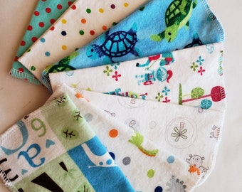 CLEARANCE Cloth Wipes, BOY PRINTS, Eco Friendly, Cloth Baby Wipes, 1 dozen