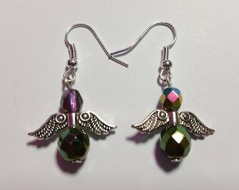"""Earrings """"Angel Green"""""""