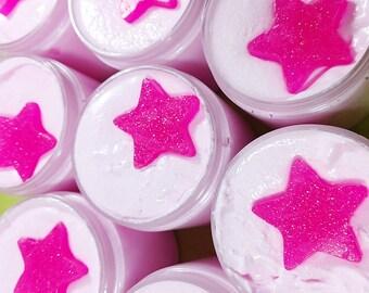 Sugar Scrub Soap. Rockin Star Whipped Sugar Scrub. Sugar Scrubs. Summer Gift. Exfoliating Sugar Scrub. Body Polish. Gift for Her. Rock Star