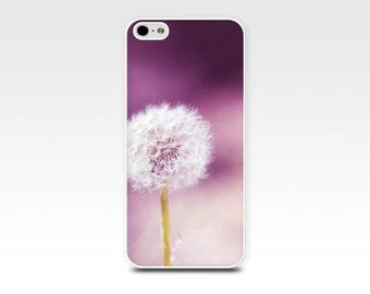 dandelion iphone case photography iphone 4 4s 5 5s 6 case botanical floral iphone case purple magenta plum nature iphone 5 5s case iphone 4