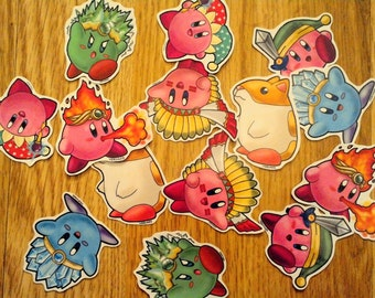 Kirby Friends and Copy Ability Stickers