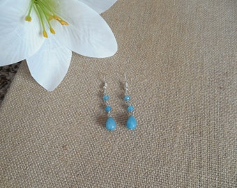 Light Blue Quartz Earrings