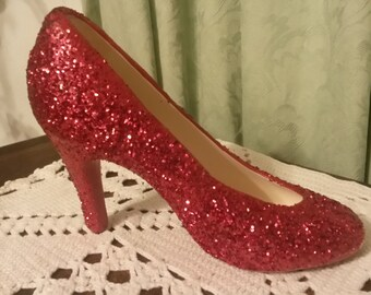 Glitter Ceramic High Heel Shoes