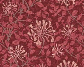 Fabric patchwork Burgundy MARSALA Barbara Brackman for Moda