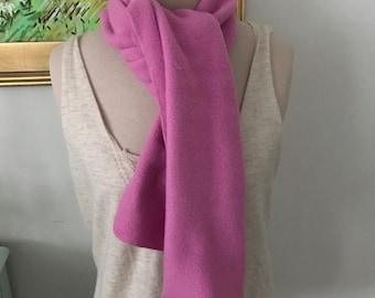 Vintage Columbia Sportswear Scarf Pink Fleece Winter Fashion Winter Accessories Long Scarf Gifts For Her Gifts Under 30