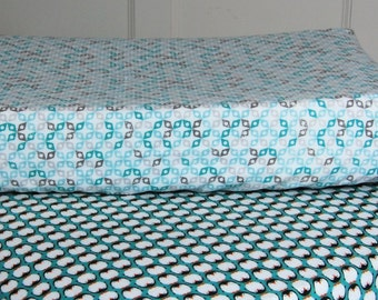 Changing Pad Cover Organic Cotton Designer Fabric - READY TO SHIP