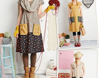 """Sewing Pattern for Dottie Angel """"Granny Chic"""", Boho Misses Sizes 6- 24,  Dress or Tunic Top, Simplicity Pattern 1080, Easy Pattern"""