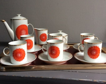 Retro 1970s Polish china coffee set