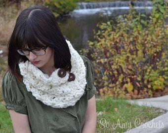 Crochet Chunky Cowl Trendy Adult Teen