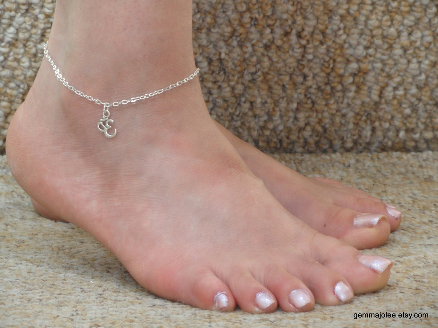 bracelet minimalist anklet ball on foot chain here great shop etsy filled leg silver s deal tommassinijewelry ankle dainty sterling a gold