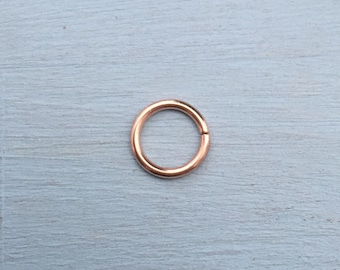 Seam Ring - Solid 18ct Rose Gold 18k - Piercing Septum Daith Helix Rook Nostril