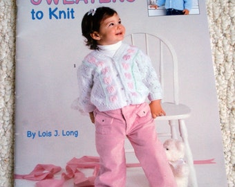 Baby Soft Sweaters to Knit by Lois Long, Leisure Arts Book of 8 Handknit Designs