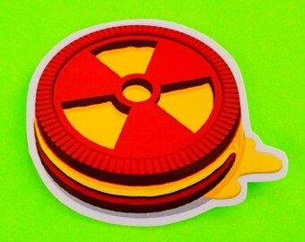 Radioactive Cookie Atomic Age Nuclear Snack Oreo Ions Food  Waterproof Vinyl Sticker