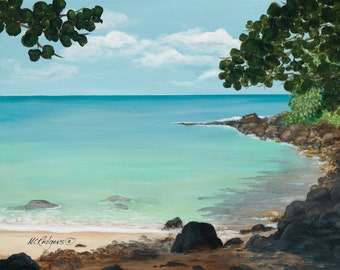 "Hawaii 105 giclee canvas print from an original acrylic painting 16"" X 20"""