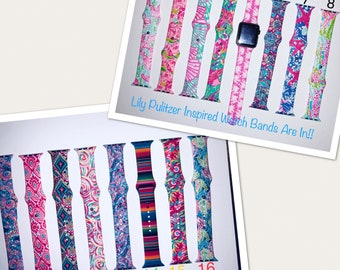 New Prints! Lilly Pulitzer Inspired Apple Watch Bands with Personalization