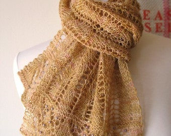 Restless Lace Scarf Knitting Pattern