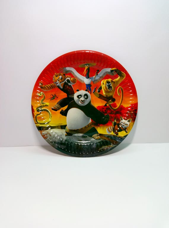 Kung Fu Panda Paper plates 10 pcs. Paper plate for children\u0027s party or birthday. Series of paper plates for birthday. Panda Kung Fu plates. from 4GoodParty ... & Kung Fu Panda Paper plates 10 pcs. Paper plate for children\u0027s party ...
