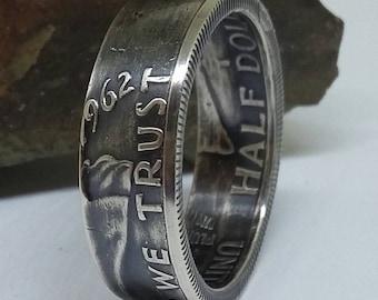 Ben Franklin Silver Half Dollar Ring
