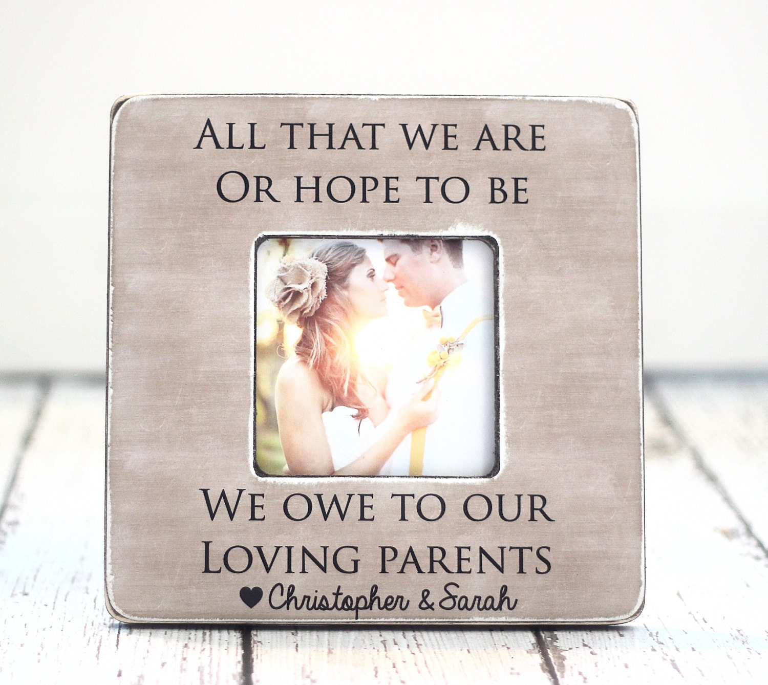 Parents Thank You Wedding Gift: Parents Thank You Wedding Gift Personalized Picture Frame All