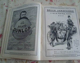 Antique book / journal of Je Sais Tout - bound annual revue from 1906 France